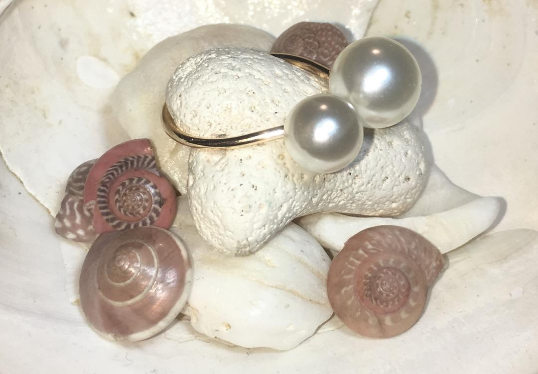 Adjustable Double Pearl Ring FREE SHIPPING!